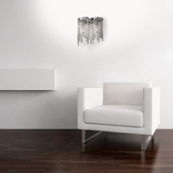 Sedia in melaminico colore rovere grigio